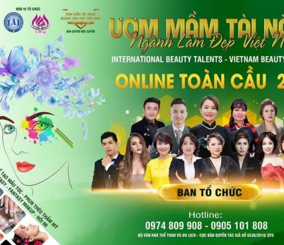 Chuỗi hoạt động trực tuyến cuộc thi Ươm mầm tài năng ngành làm đẹp Việt Nam