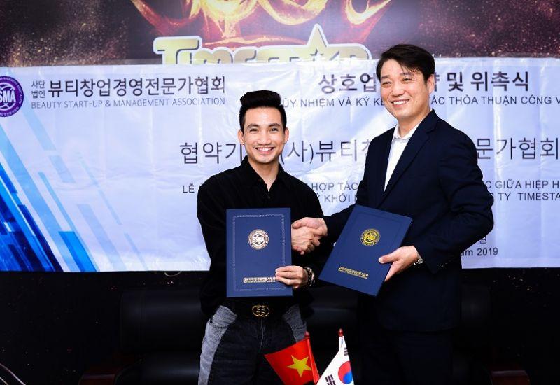 Đạo diễn Mr Snake – đại diện duy nhất tại Việt Nam kí kết hợp tác cùng Hiệp hội các chuyên gia quản lý khởi nghiệp làm đẹp Hàn Quốc