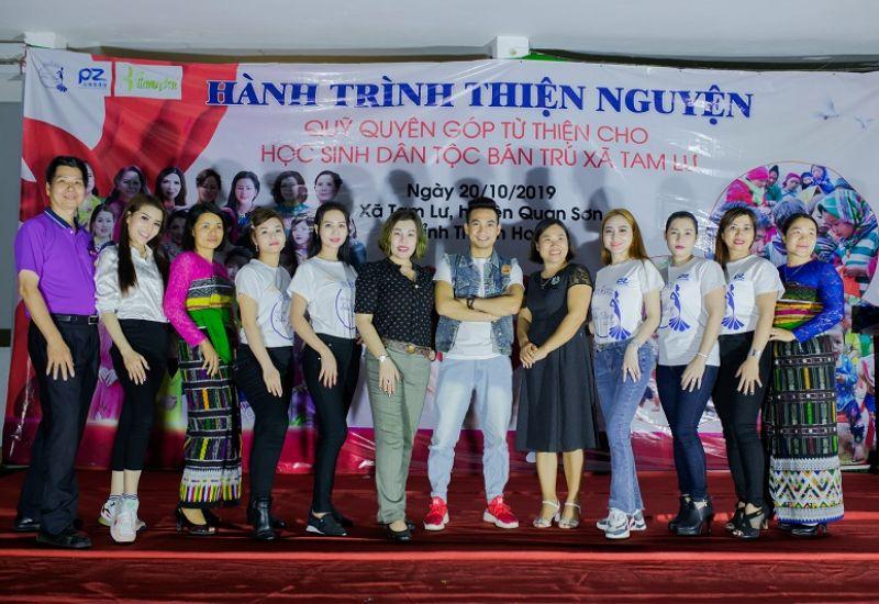 Hoa hậu quốc tế Châu Mai Thảo và đạo diễn Mr Snake tổ chức chuyến thiện nguyện tại Thanh Hóa