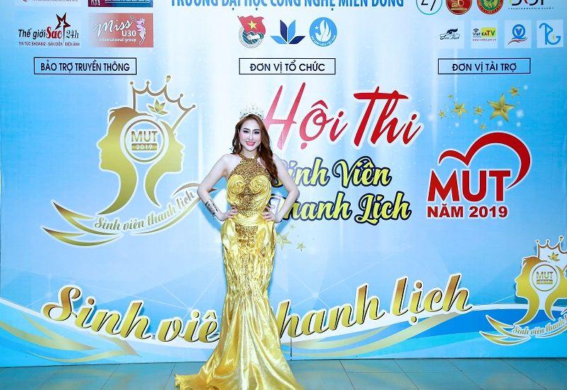 Hoa hậu Quốc tế Taiwan Hải Yến truyền cảm hứng cho các người đẹp tại sự kiện MUT 2019 của đại học Công nghệ Miền Đông
