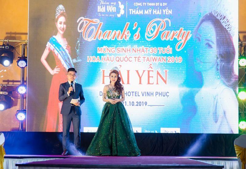 Hoa hậu Quốc tế Taiwan 2019 Lê Hải Yến tỏa sáng trong đêm sinh nhật tuổi 30