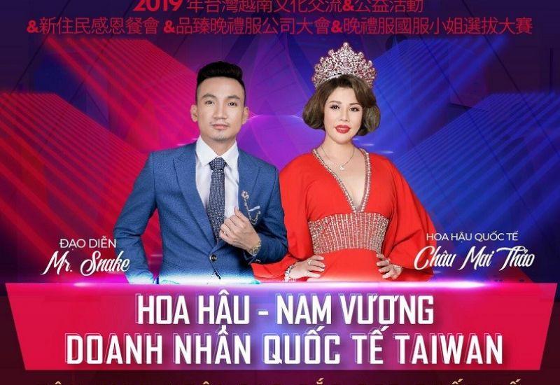 Lộ diện ekip sản xuất chuyên nghiệp sẵn sàng cho sự kiện Hoa Hậu – Nam vương doanh nhân quốc tế Taiwan 2019