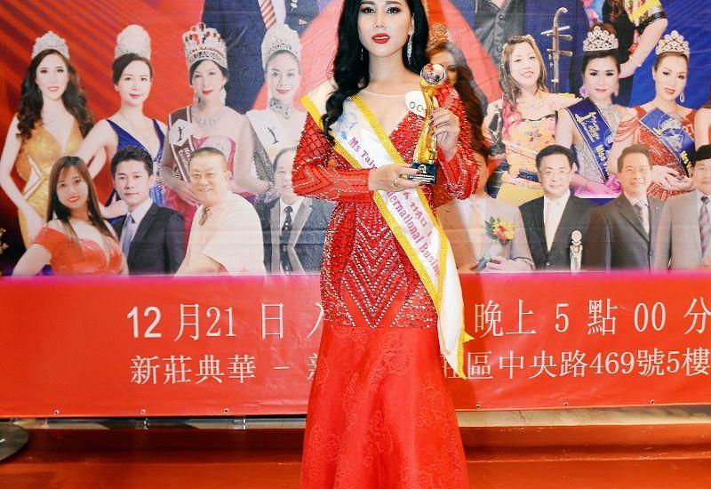 Doanh nhân Nguyễn Nga xuất sắc trở thành Á hậu 1 Quốc tế Taiwan 2019
