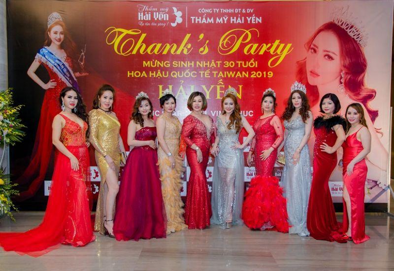 Những bông hồng rực rỡ trong đêm Thanks Party của Hoa hậu quốc tế Taiwan Hải Yến