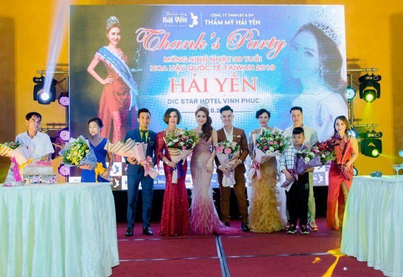 Vỡ òa cảm xúc trong đêm tiệc Thanks Party và đón tuổi mới của Hoa hậu Quốc tế Taiwan Hải Yến