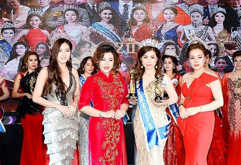 Vũ Thị Hoa nhận giải thưởng Hoa hậu thân thiện Quốc tế Taiwan 2019 trong Hoa hậu - Nam vương doanh nhân quốc tế Taiwan 2019