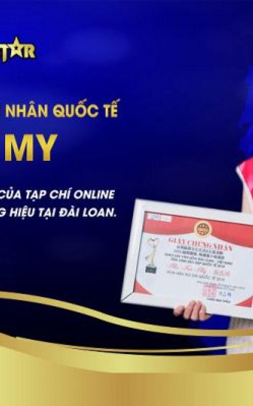 Hoa hậu áo dài quốc tế Trà My - Đại diện phóng viên của Tạp chí online Nghệ nhân và Thương hiệu tại Đài Loan