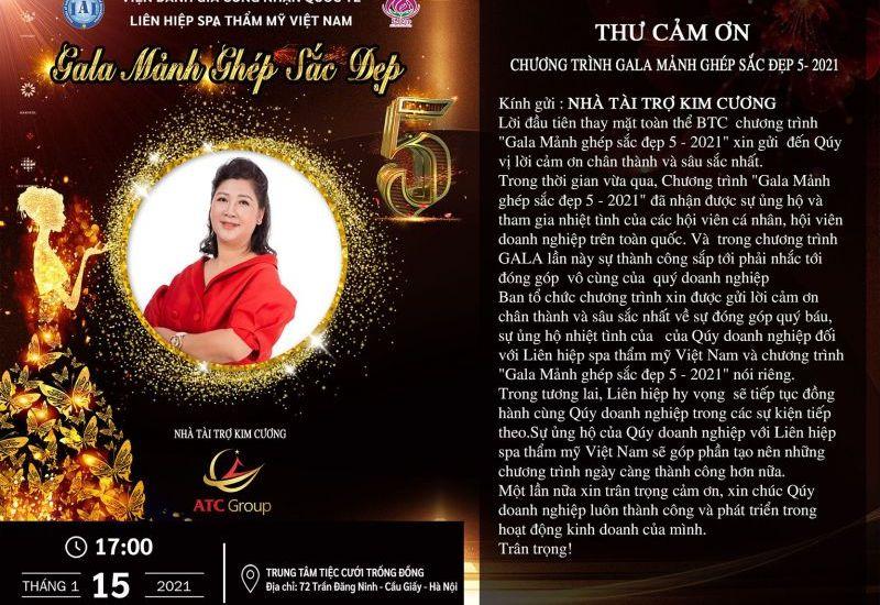 ATC Group trở thành Nhà tài trợ Kim cương tại Gala Mảnh ghép sắc đẹp 5