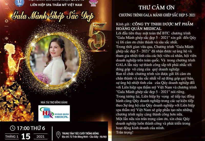 Giám đốc Phạm Thị Thuỷ - Công ty TNHH Dược Mỹ phẩm Hoàng Quân Medical tham dự Mảnh ghép sắc đẹp 5 trong vai trò Nhà tài trợ đồng hành