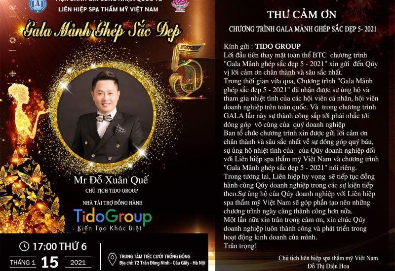 Tido Group trở thành Nhà tài trợ đồng hành tại Gala Mảnh ghép sắc đẹp 5