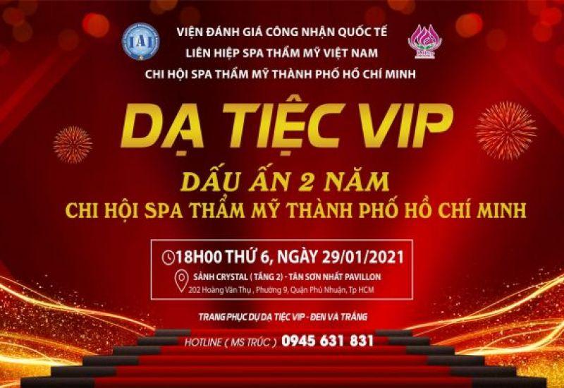 Dạ tiệc VIP – Mảnh ghép của những ngôi sao ngành làm đẹp TPHCM