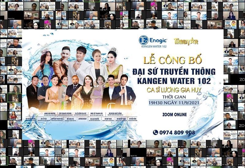 Lễ công bố Đại sứ truyền thông Kangen water 102 thành công trên nền tảng công nghệ 4.0
