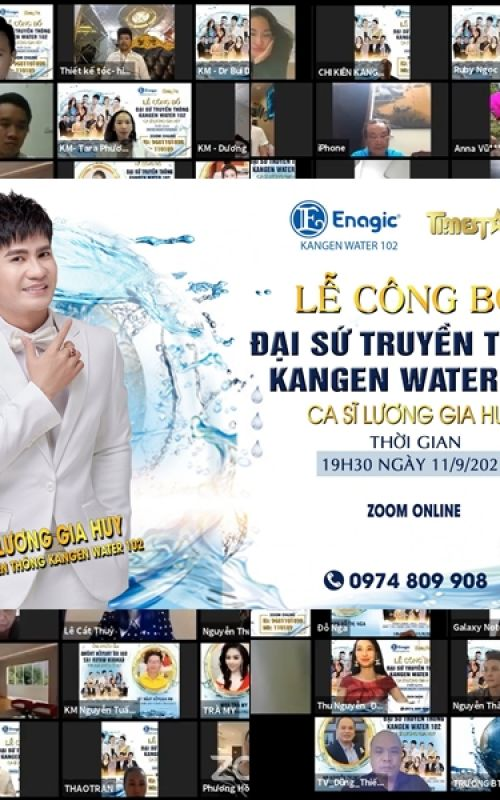 Ca sĩ Lương Gia Huy chính thức trở thành Đại sứ truyền thông Kangen water 102 tại Việt Nam